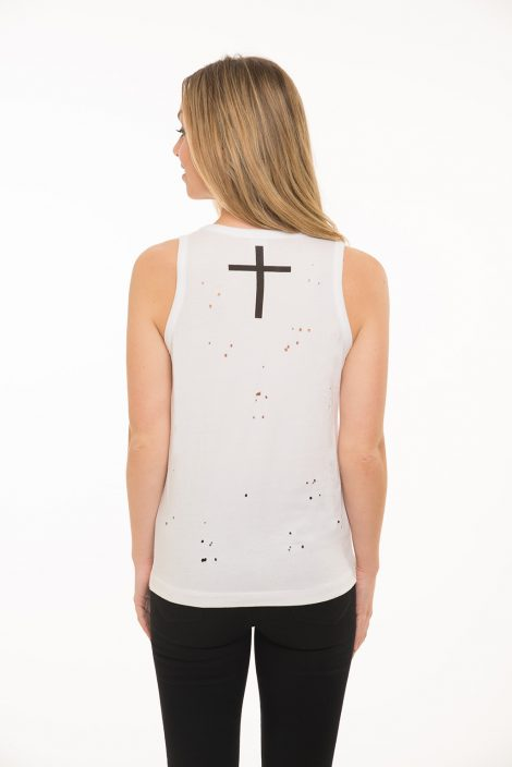 Cross Over Distressed Tank