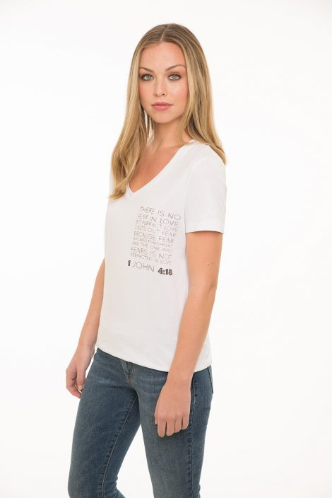Ladies V Neck Verse Tee