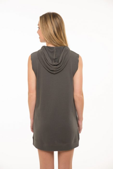 Sleeveless Hoodie Dress